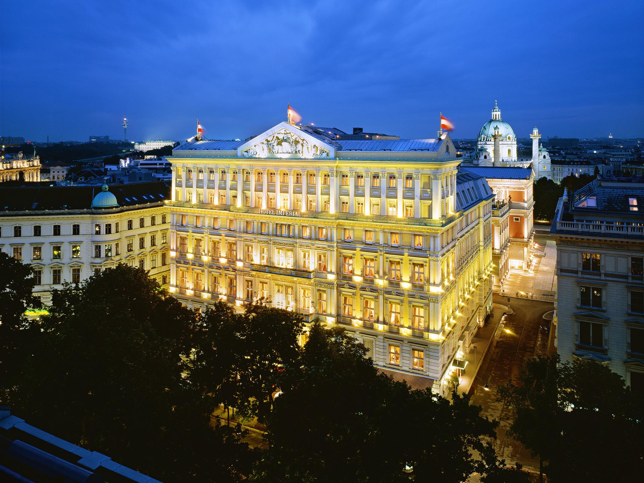 Exterior View of the Hotel Imperial in Vienna